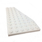 Lego Parts: Wedge Plate 6 x 12 Right (White)