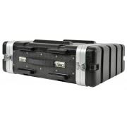 Citronic Abs:3u Abs 19 Flightcase Equipment Rack Case Pa Dj Band 3u -NEW