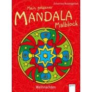 Mein goldener Mandala-Malblock: Weihnachten