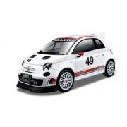 Bburago - Coche de juguete Race Abarth 500 Assetto Corse, escala 1/24, color blanco (18-28101)