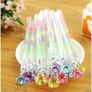 Crystal Diamond Pens Pack of 12 Six Color in One Gel Ink Pen Colorful Gel Ink Pen Set 0.8mm Get fridge magnets FREE