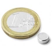 Magnet neodim disc, diametru 6 mm, putere 680 g