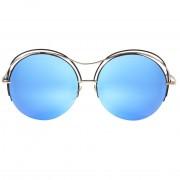 Occhiali da sole dhomy pulse black-silver e silver mirror blue d00445