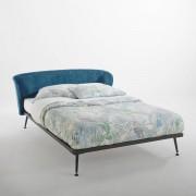 "La Redoute Interieurs Bett ""Topim"", Metall und Samt, mit Lattenrost"