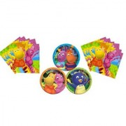 Backyardigans Plate and Napkin Birthday Party Pack 16 Plates 32 Napkins