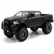 2014 Dodge Ram 1500 Matt Black Pickup Truck Off Road Just Trucks 1/24 by Jada 97473