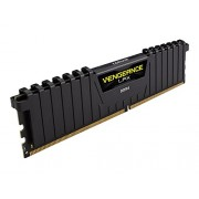 Corsair CMK32GX4M2A2666C16 Vengeance LPX Kit di Memoria da 32 GB, 2x16 GB DDR4, 2666 MHz, CL16 XMP 2.0 High Performance, Nero