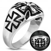 Inel inox Cross Biker Ring B3071