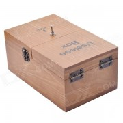 NEJE Wooden Useless Fully Assembled Machine Box Toy w/ Logo - Brown (2 x AA)