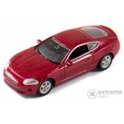 Mașinuță Welly Jaguar XK Coupe bordo, 1:60-64