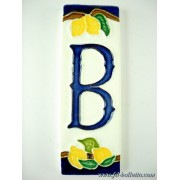 Numero civico ceramica con limoni nl12