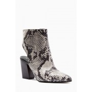 Womens Next Open Back Shoe Boots - Snake Print