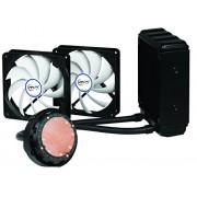 ARCTIC Liquid Freezer 120, sistema di raffreddamento ad acqua della CPU con alte prestazioni e con ventole da 120 mm a basso rumore PWM, con cuscinetto fluido dinamico, compatibile con Intel e AMD, composto termico MX-4 incluso