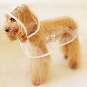 Lätt regnrock till hunden - M, Transparent