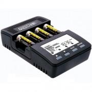 Cargador POWEREX MH-C9000 WizardOne Cargador-analizador para 4 pilas AA, AAA NiM