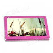 """""""T18 4.3"""""""" HD Touch Screen MP3 / MP4 / MP5 Player w/ RMVB / FLV / TV Out / 1080P - Pink + White (16GB)"""""""