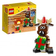 Lego Year 2014 Seasonal Series 4 Inch Tall Figure Set #40092 - Christmas REINDEER with Elf Cap and 2 Gift (Total Pieces: 139)