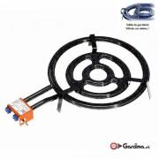 Paellero plano gas butano y propano 50 cm / 3 quemadores
