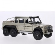 Welly Mercedes AMG G63 6x6 Pickup Truck 1/24 Scale Diecast Model Car Metallic Beige