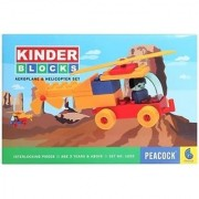 Peacock Kinder Blocks Building Blocks Toy Set - Helicopter Edition For Kids