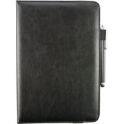Emartbuy Toshiba Excite AT200 PC Universal ( 9 - 10 Inch ) Black 360 Degree Rotating Stand Folio Wallet Case Cover + Stylus