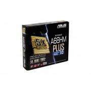 T. Madre Asus A68HM-PLUS, Chipset AMD A68H, Soporta, AMD A10/ A8/ A6/ A4/ AthlonX4 De Socket FM2+, Memoria, DDR3 2400(O.C.)/2133/1866/1600/1333 MHz, 32GB Max, Integrado, Audio HD, Red, USB 3.0 Y SATA 3.0, Micro ATX, Ptos, 1xPCIEx16, 1xPCIEx1,