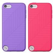 Belkin Flex Duo - силиконови калъфи за iPod Touch 5 (2 броя - лилав и розов)