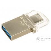 "Memorie USB Verbatim ""Micro"" 64GB USB3.0 + adaptor Micro USB (49827)"