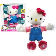 Blips Year 2014 Sanrio Hello Kitty 12 Inch Tall Electronic Plush Doll Dance Time Hello Kitty With Sound Or Touch Activation Feature, Synchronized Dancing To 2 Songs Plus Stands To Place Her Anywhere