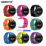 XBERSTAR Watchband Strap for Suunto Traverse / for Suunto Traverse Alpha GPS Outdoor Watch Replacement Silicone Watchband