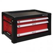 Skříňka dílenská přenosná 3 zásuvky 690x465x400mm červená