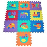TLCmat? Soft Foam Play Mat Puzzle with Animal and Transportation Pop-Out