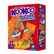 Winning Moves 30447 Kookoo Puzzles, Bailar es divertido - Puzzle (1 grande y 4 pequeños formados por 24 tarjetas)