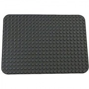 Premium Dark Gray Base Plate - 15 x 10.5 Baseplate (LEGO DUPLO Compatible) - Large Pegs Only
