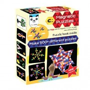 Play Panda Magnetic Puzzles Triangles (Includes 400 Magnets + Magnetic Board + Puzzle Book With 90 Puzzles + Display Stand)