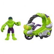 Playskool Heroes Marvel Super Hero Adventures Hulk Figure with Tread Racer Vehicle