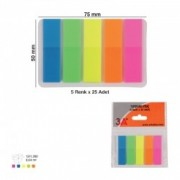 Index adeziv 12 x 45 mm neon 5 culori