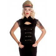 Top w militarnym stylu marki Hell Bunny - BLACK WATCH TOP