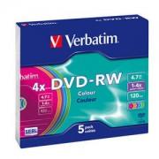 DVD-RW carcasa slim VERBATIM Colours