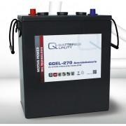 Batería de gel 6 Voltios 270 Amperios Q-Batteries 6GEL-270 311mm x 181mm x 360mm