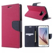 Korean Mercury Fancy Diary Wallet Case for Samsung Galaxy S6 Edge Plus Hot Pink