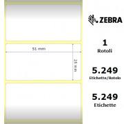 Zebra Z-Ultimate 3000T White - Etichette in poliestere di colore bianco, formato 51 x 25 mm.