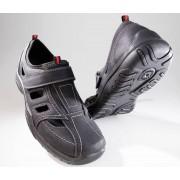 Slipper mit Klimazonen und Klettvschluss, Farbe schwarz, Gr.44