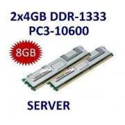 Samsung - Kit Dual Channel 2 x 4 GB = 8 GB 240 pin DDR3 - 1333 ecc registered Rango doppio (1333MHz, PC3 - 10600, CL9) - 100% zu kompatibel IBM FRU 49y1445 # 46 C0596 + + 49y1435 - passend FÜR IBM System x3400 M2 (7836) + System x3400 M2 (7837-xxx) + Syst