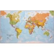 Wereldkaart 68P-zvl Politiek, 196 x 120 cm   Maps International