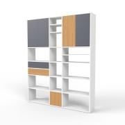 Wohnwand Weiß, MDF, 189 cm x 232 cm x 34 cm