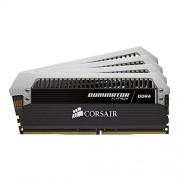 Corsair CMD16GX4M4B3000C14 Dominator Platinum Kit di Memoria da 16 GB, 4x4 GB DDR4, 3000 MHz, CL14 XMP 2.0 Enthusiast, Nero