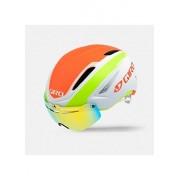 Giro Casque de vélo pour adulte Air Attack Shield 16 S Multicolore - White/Lime/Flame