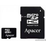 Micro SD Card, 16GB, Apacer MICRO, Class4, 1xAdapter (AP16GMCSH4-R)