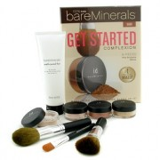 100% Pure BareMinerals Get Started Complexion Kit - Dark (2xFdn Spf15+Tinted Mineral Veil+Face Color+3xBrush+DVD+Brush Shampoo) - 100% Pure BareMinerals Get Started Complexion Комплект - Тъмен ( 2х Фон дьо Тен със Spf15+ Tinted Mineral Veil + Грим за Лице